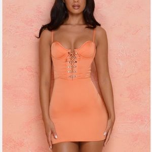 Silk orange dress from Oh Polly